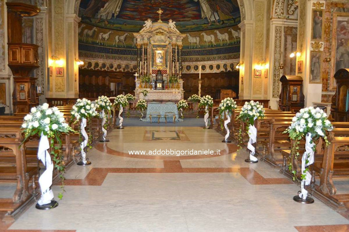 addobbo chiesa matrimonio roma