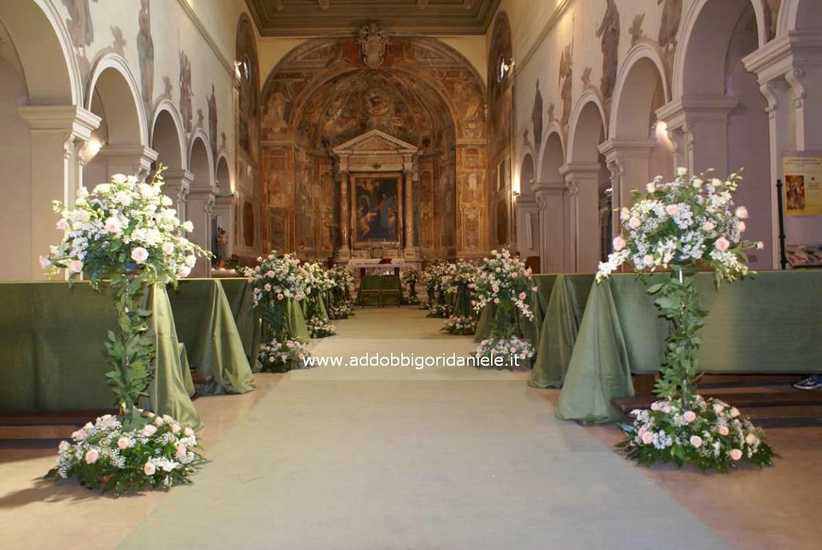 Popolare Drappi | A Roma addobbi floreali per chiesa fiori per matrimonio  VB13